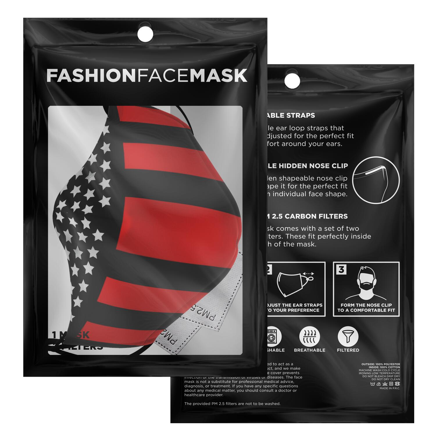 Stars & Stripes Face Mask - Fuckinuts