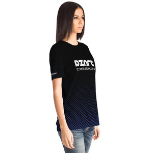 DZart Design Private #7 Black Blue AOP Tee - Fuckinuts