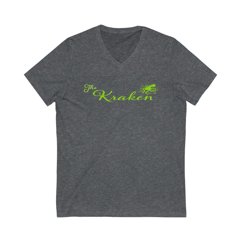 The Kraken Lime V-Neck Tee - Fuckinuts