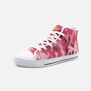 Fuckinuts Pink Camo Unisex High Top Canvas Shoes - Fuckinuts