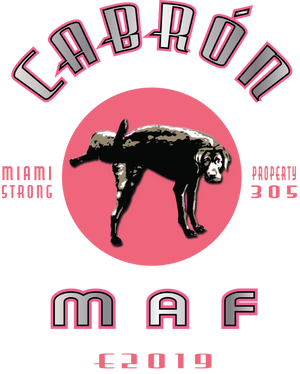 Miami MAF Cabron V Neck Tee - Fuckinuts