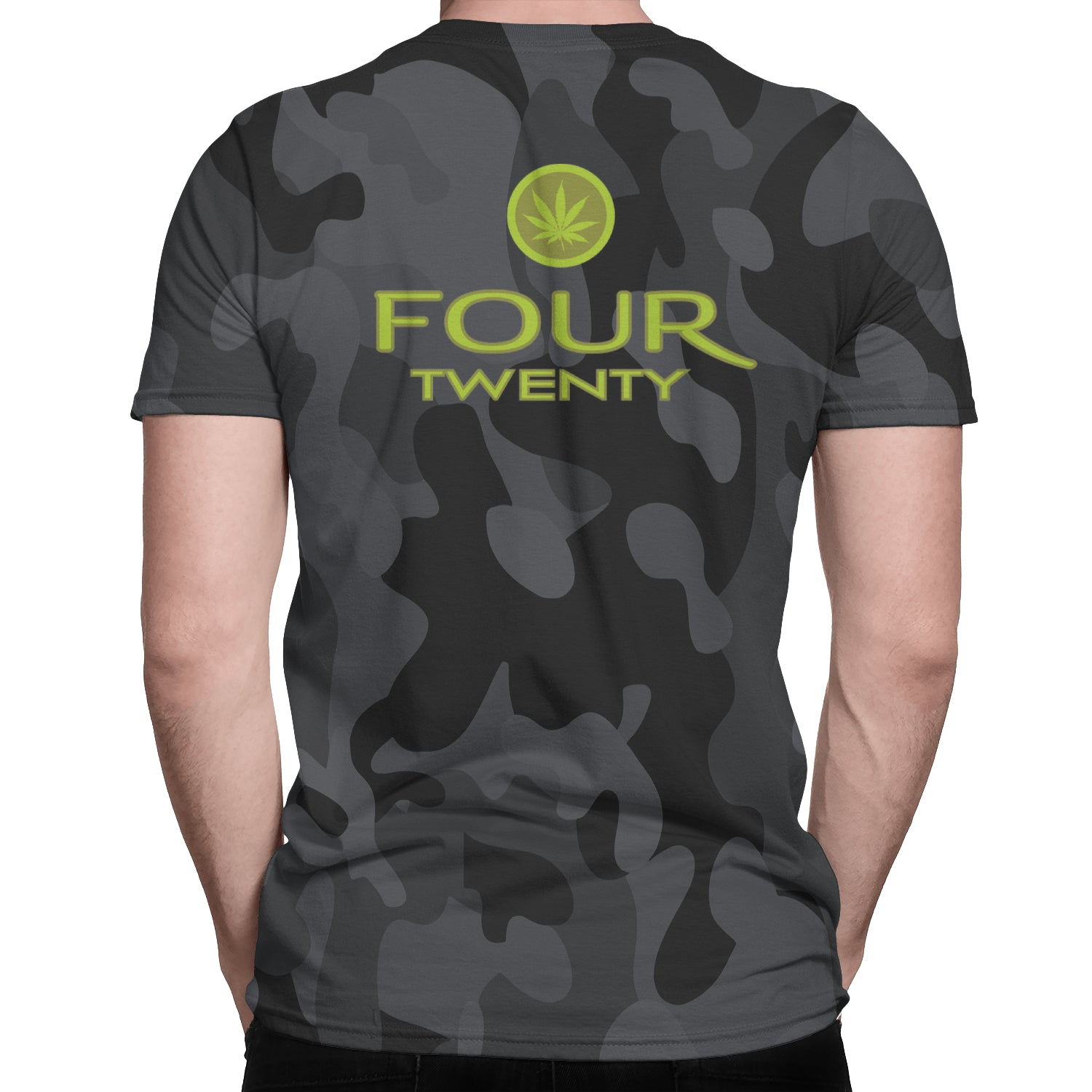 Mary Jane Inspired Black Camo V Neck - Fuckinuts