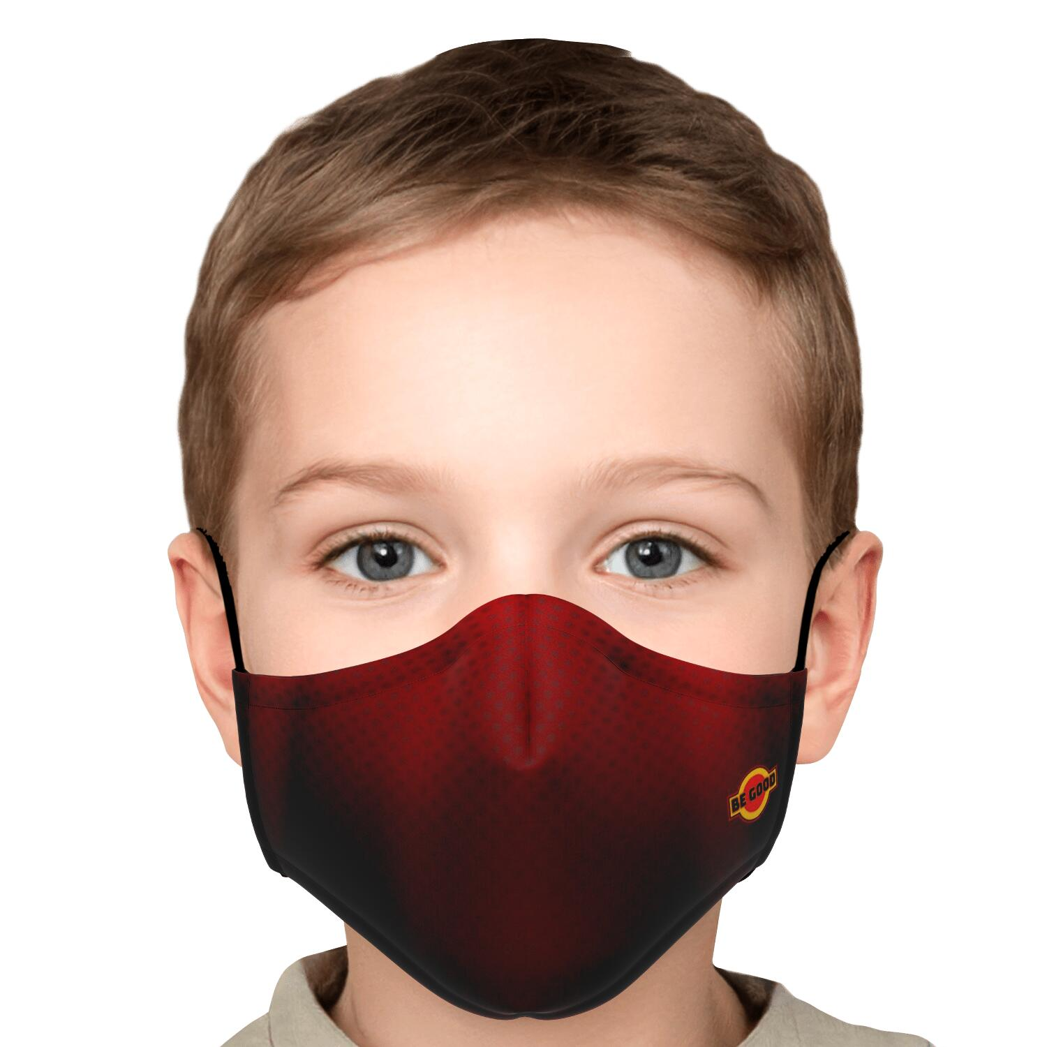 Be Good Red Black Mesh Face Mask - Fuckinuts