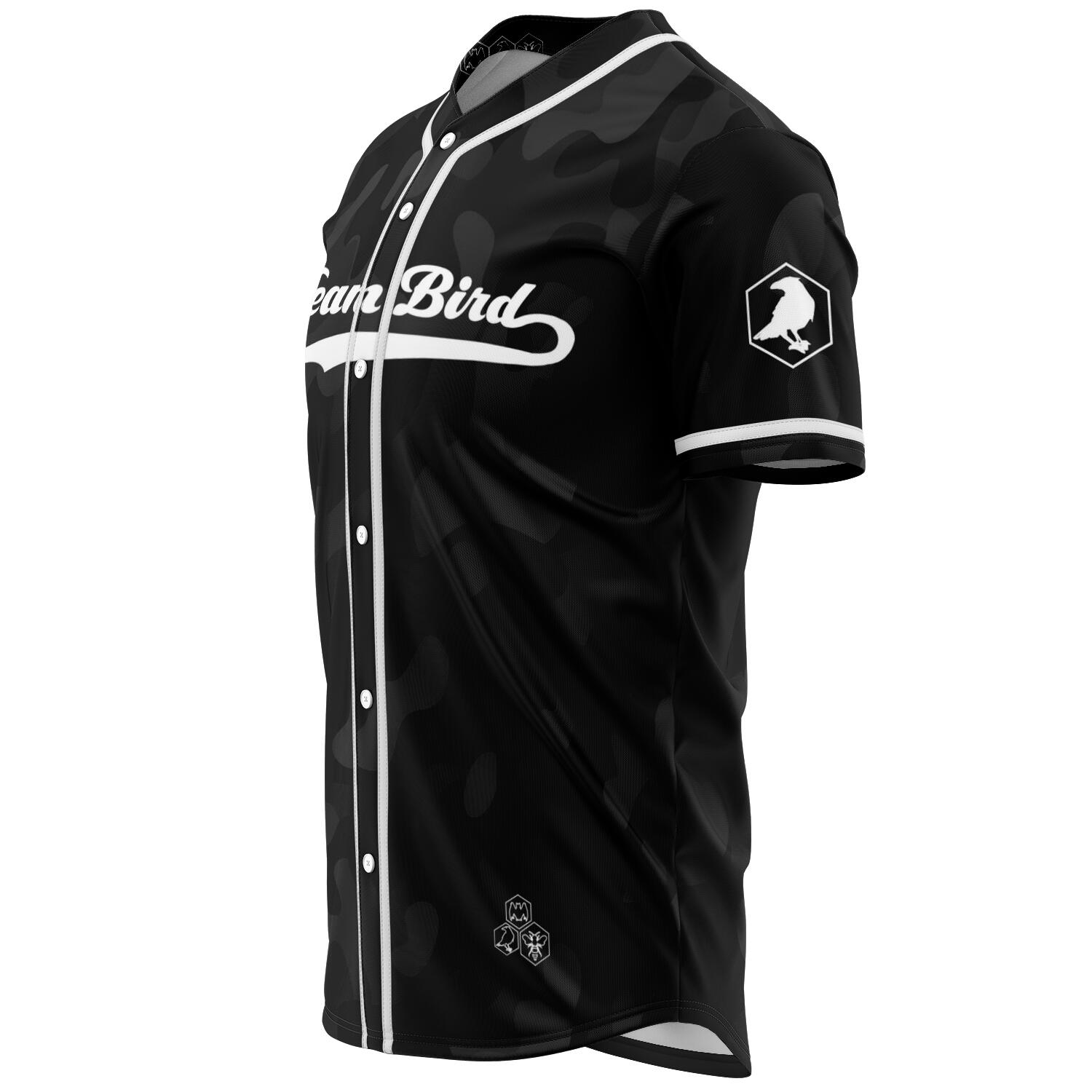 Team Bird Baseball Jersey Black Camo - Fuckinuts