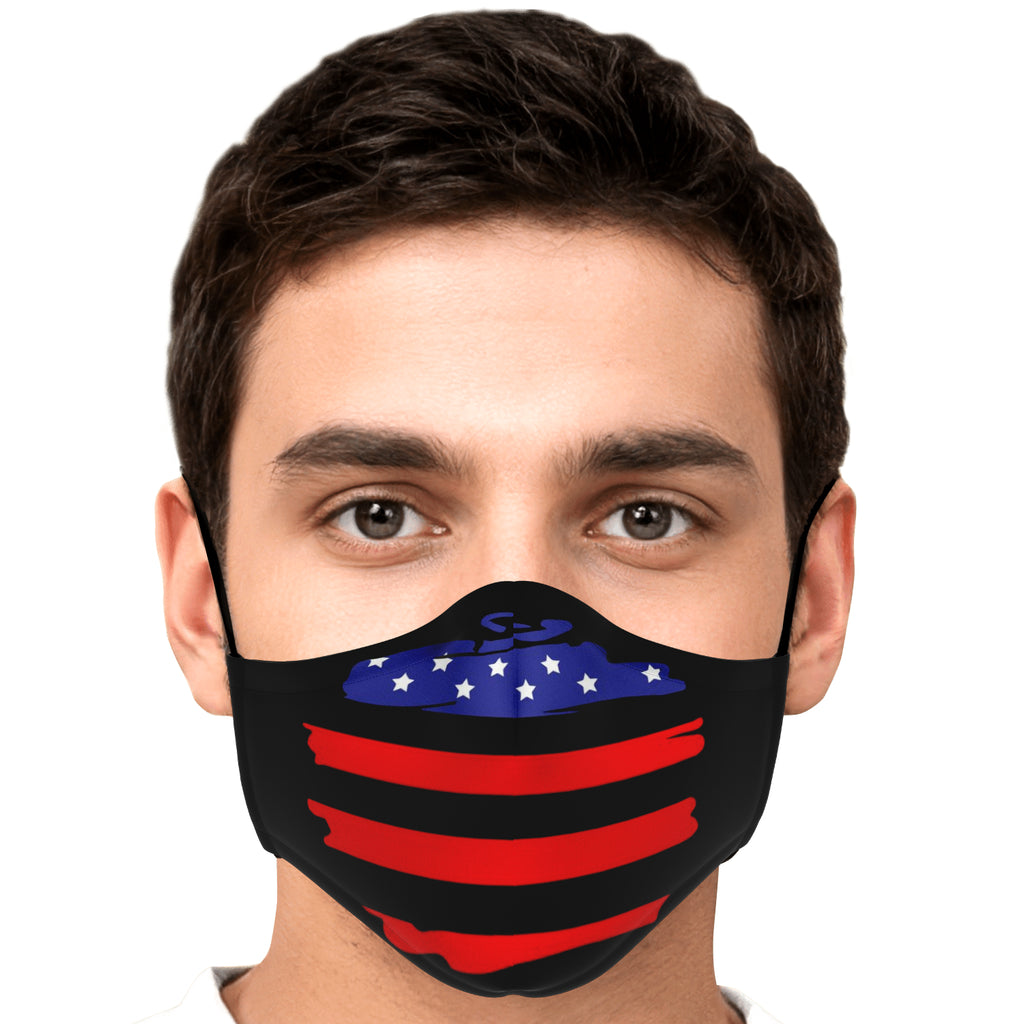 Stars & Stripes Swoosh Face Mask - Fuckinuts