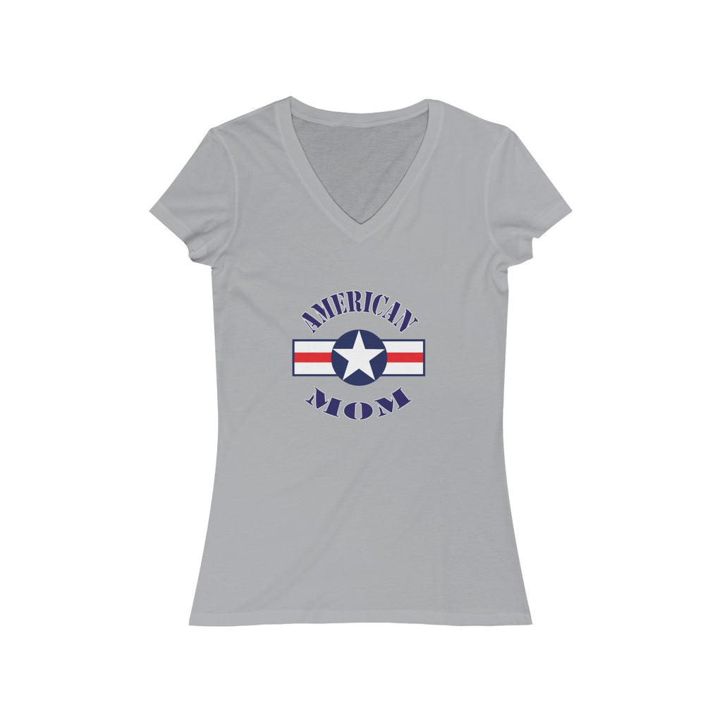 USA American Mom Women's Short Sleeve V-Neck Tee - Fuckinuts