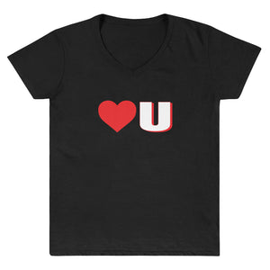 Love U Women's V-Neck Shirt - Fuckinuts