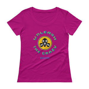 Unleash the Crazy Women's Scoopneck T-Shirt - Fuckinuts