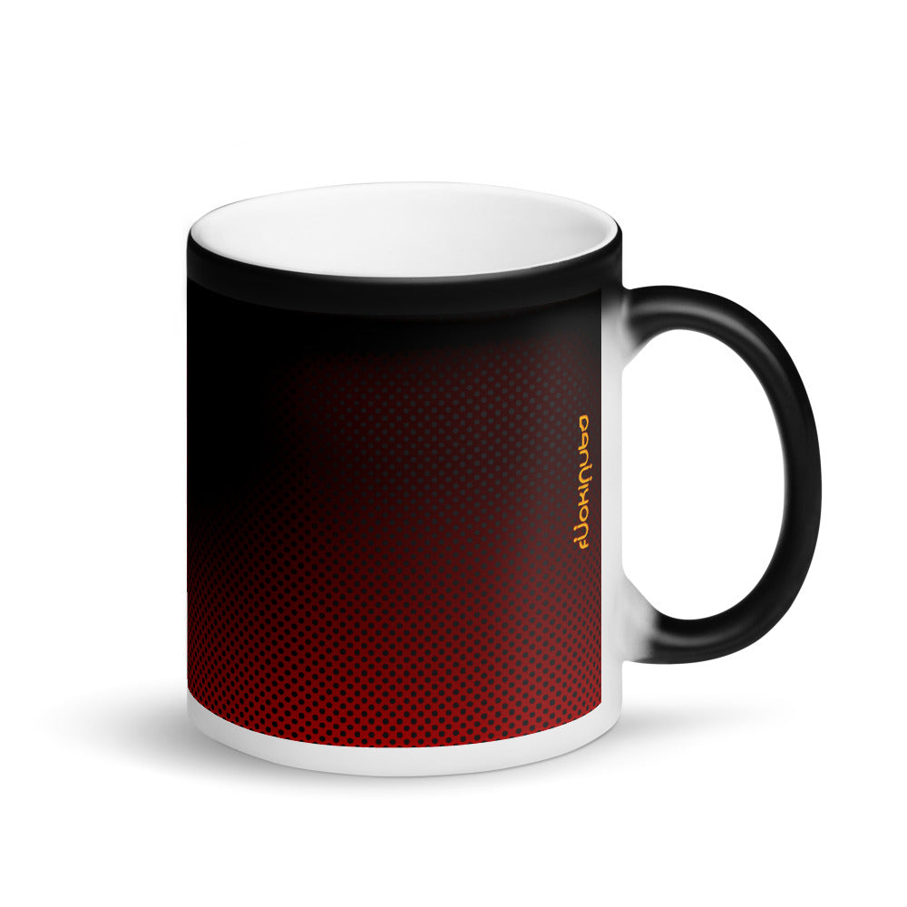 Red Black FN Gradient Matte Black Magic Mug - Fuckinuts