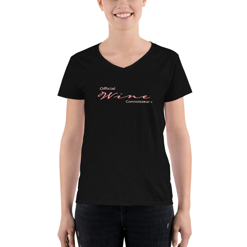 Official Wine Connoisseur Women's V-Neck Shirt - Fuckinuts