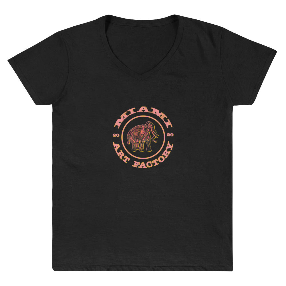 Miami Art Factory MAF Mammoth Women's V-Neck Shirt - Fuckinuts