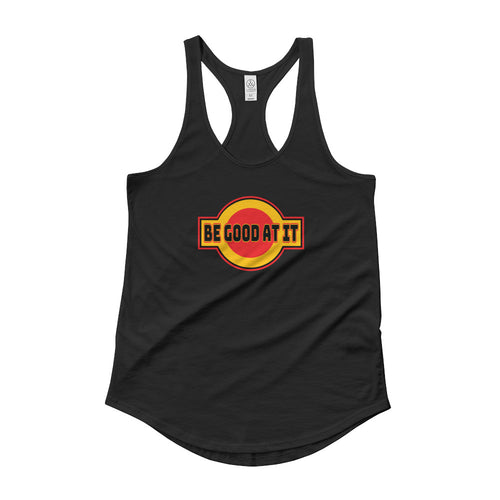 Be Good At It Women's Shirt-tail Racer-back Tank - Fuckinuts