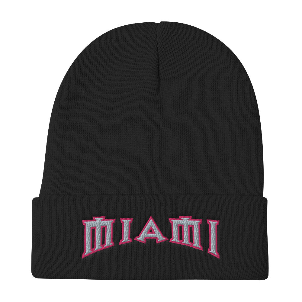 IMCF Miami Embroidered Beanie - Fuckinuts