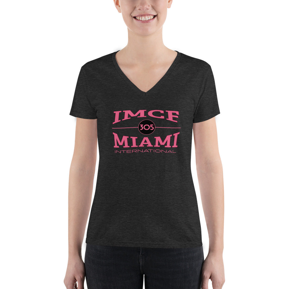 IMCF Miami International Women's Deep V-neck Tee - Fuckinuts