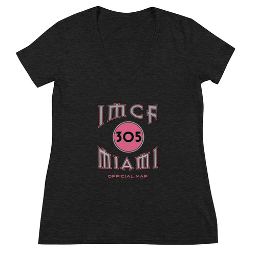 IMCF 305 Miami Official MAF Women's Deep V-neck Tee