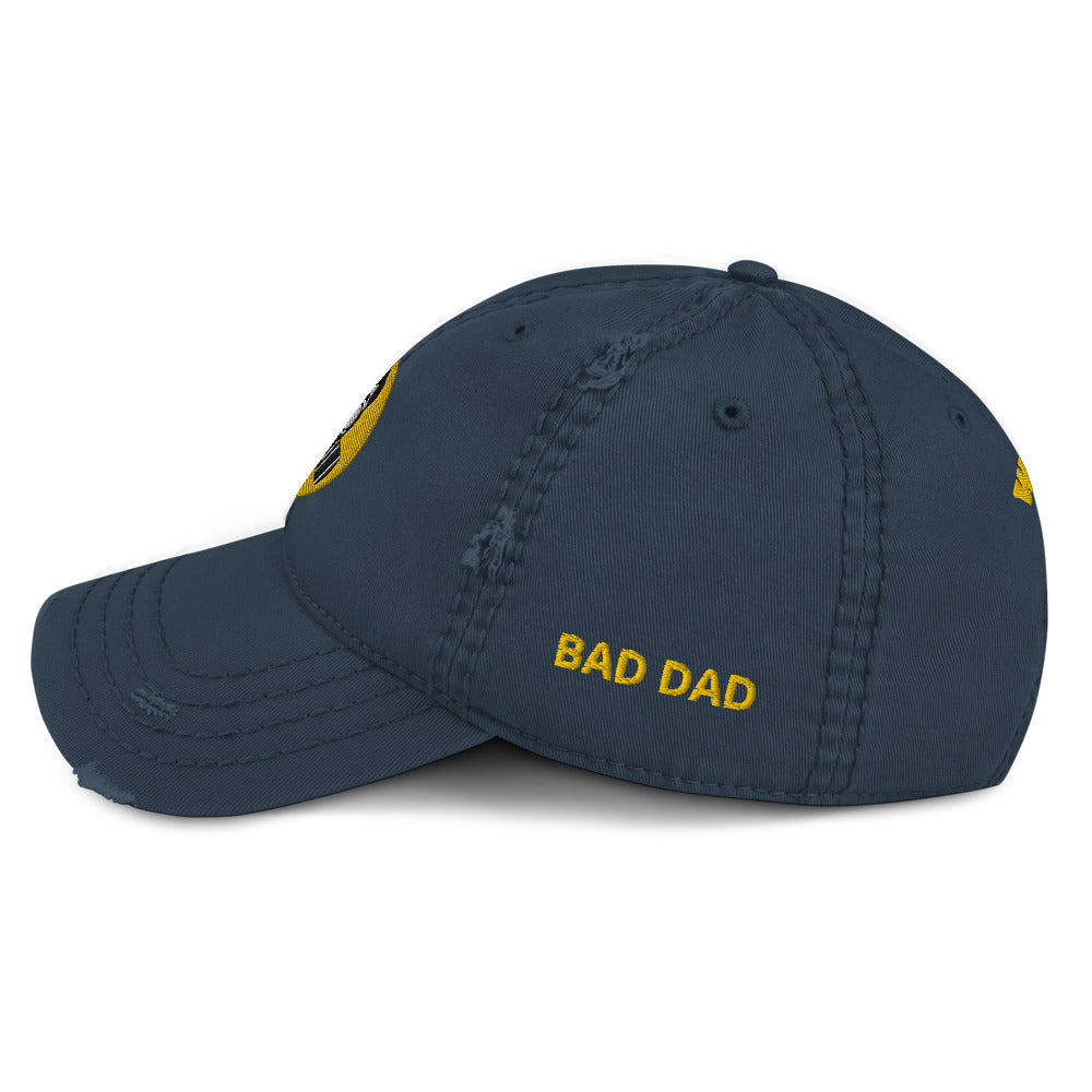 Bad Dad 2020 Distressed Dad Hat - Fuckinuts