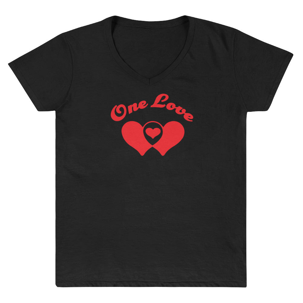 One Love Women's V-Neck Shirt - Fuckinuts