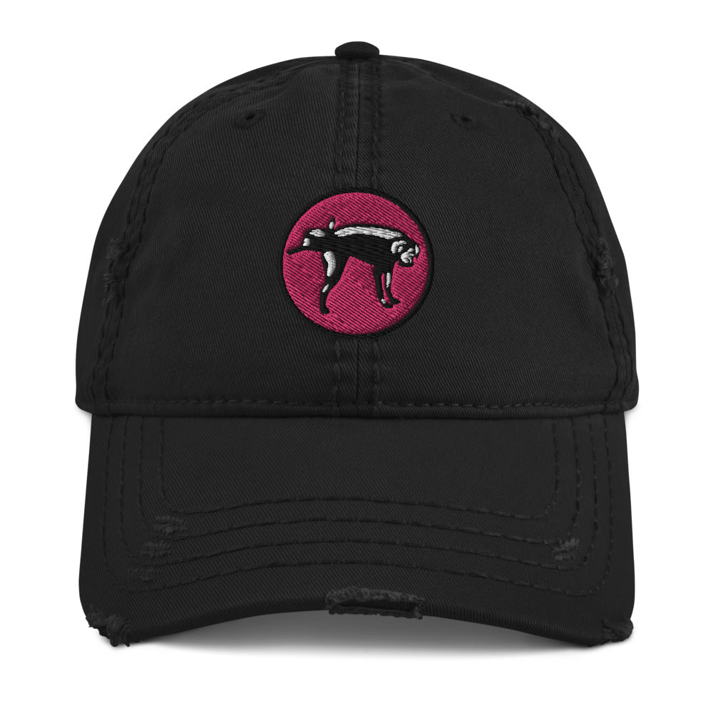 MAF Miami Nice Dog Distressed Dad Hat - Fuckinuts