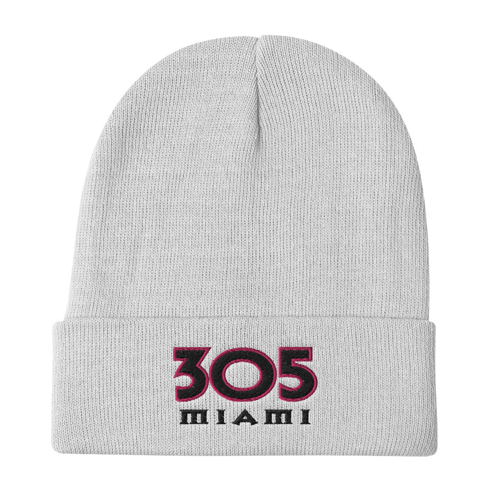 305 Miami Embroidered Beanie - Fuckinuts