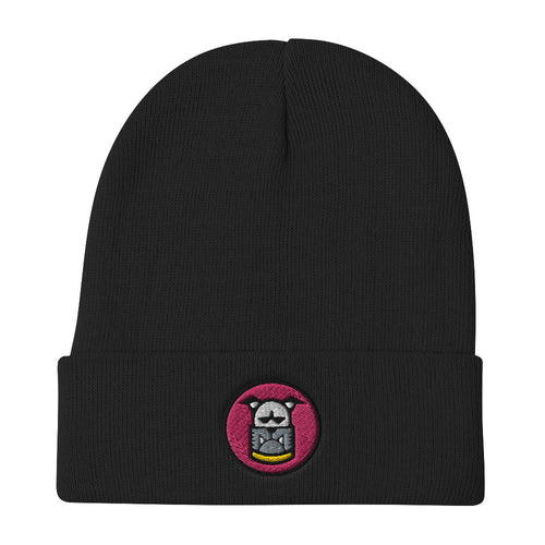 Miami MAF Dog Embroidered Beanie - Fuckinuts