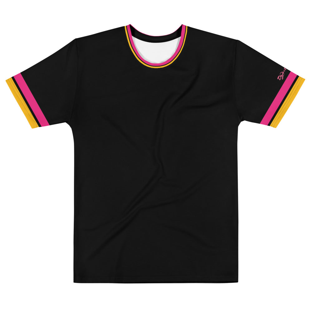 Dzart Design MAF Pink Gold Stripe Men's Crew Neck - Fuckinuts