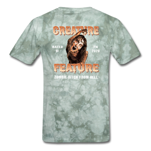 Creature Feature Show Zombie Bitch From Hell - military green tie dye