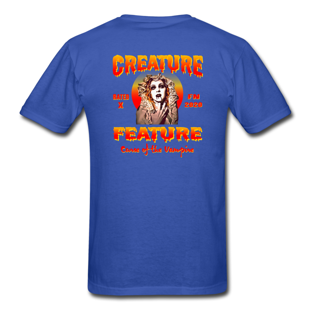 Creature Feature Show Curse of the Vampire - royal blue