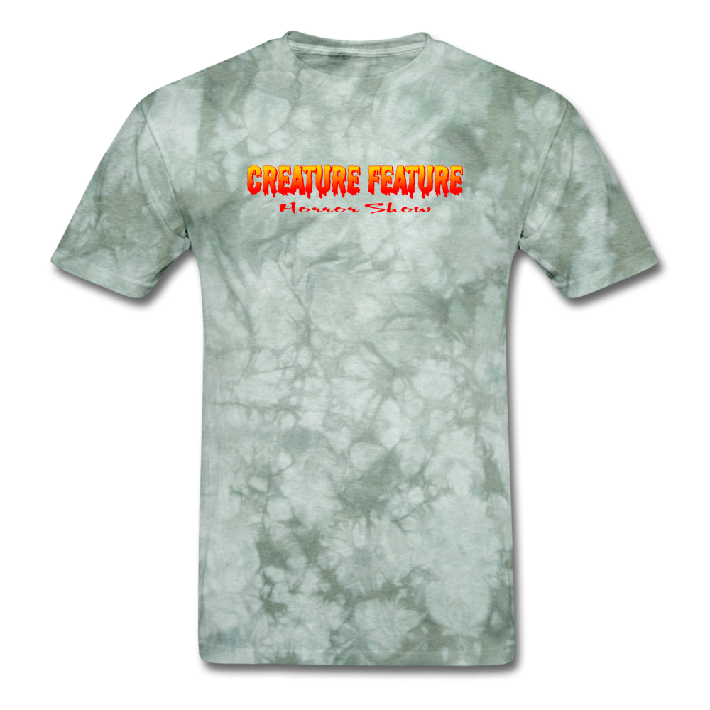 Creature Feature Show Curse of the Vampire - military green tie dye
