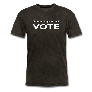 Shut Up and Vote - mineral black