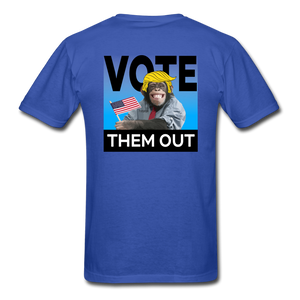 Vote Them Out - royal blue