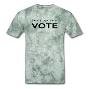 Vote Them Out - military green tie dye