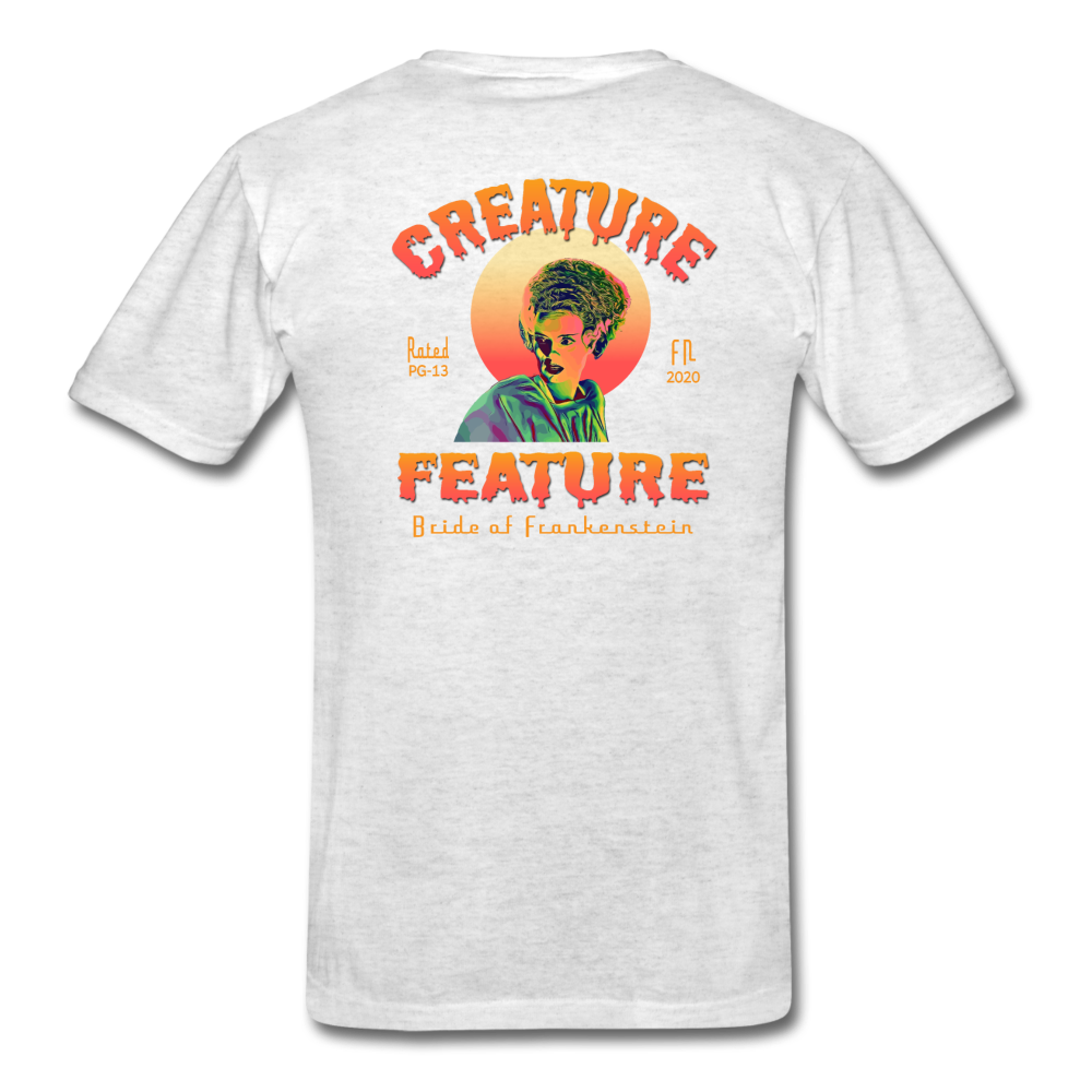 Creature Feature Show Bride of Frankenstein - light heather gray