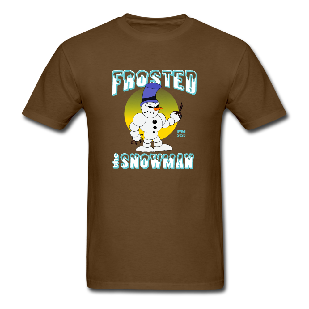 Frosted the Snowman T-Shirt - brown