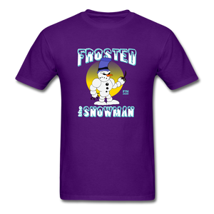 Frosted the Snowman T-Shirt - purple