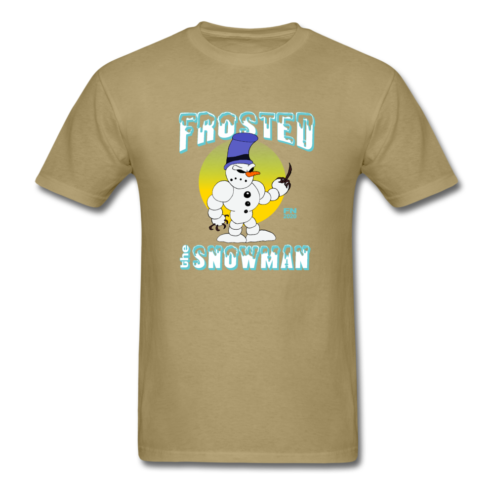 Frosted the Snowman T-Shirt - khaki
