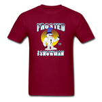 Frosted the Snowman T-Shirt - burgundy