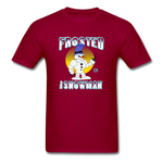 Frosted the Snowman T-Shirt - dark red