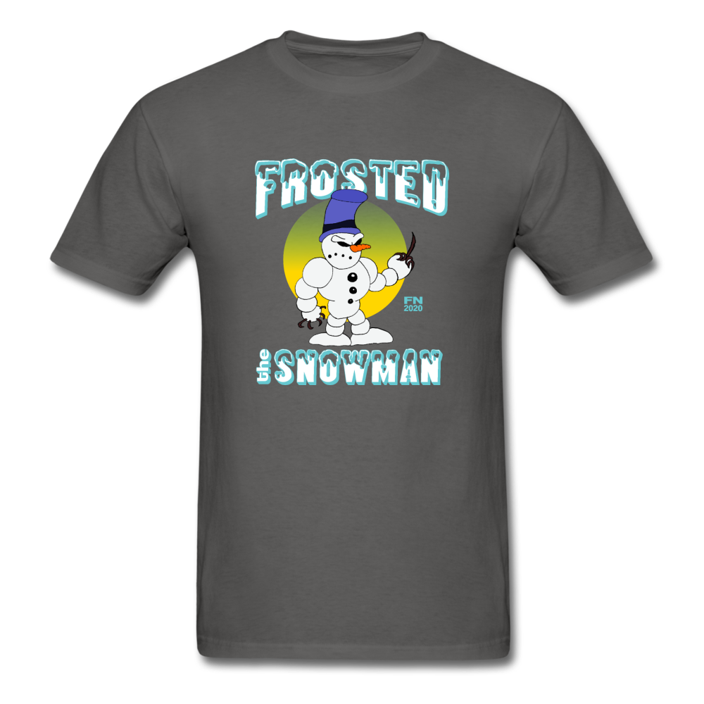 Frosted the Snowman T-Shirt - charcoal