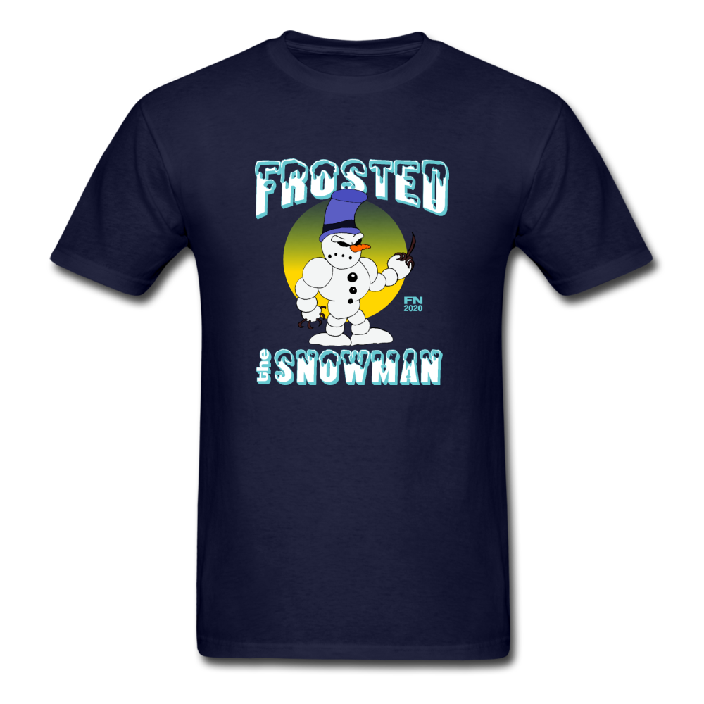 Frosted the Snowman T-Shirt - navy