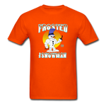 Frosted the Snowman T-Shirt - orange