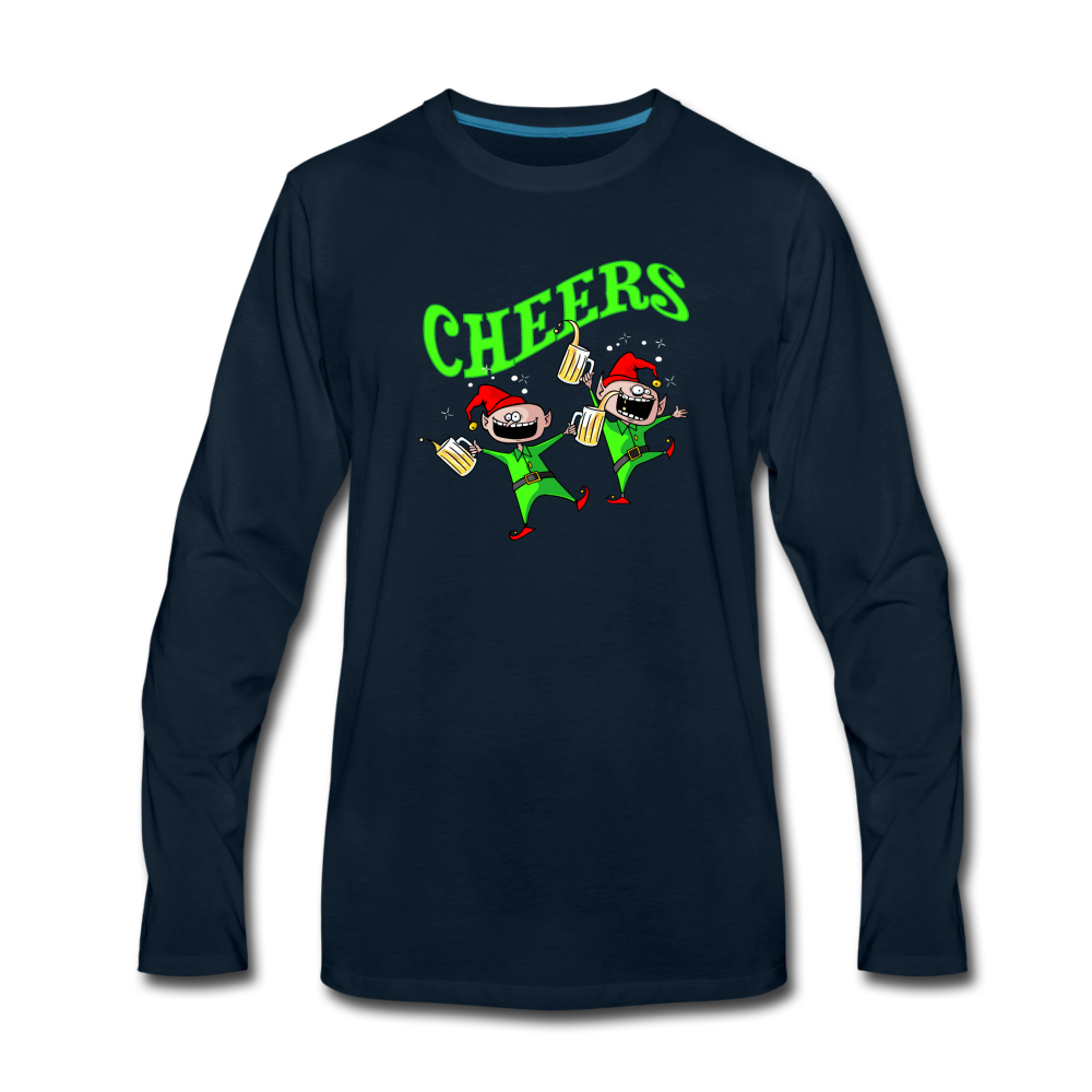 Cheers Elves Long Sleeve T-Shirt - deep navy
