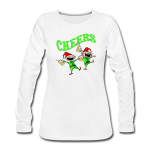 Cheers Elves Women's Premium Long Sleeve T-Shirt - white