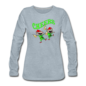 Cheers Elves Women's Premium Long Sleeve T-Shirt - heather ice blue