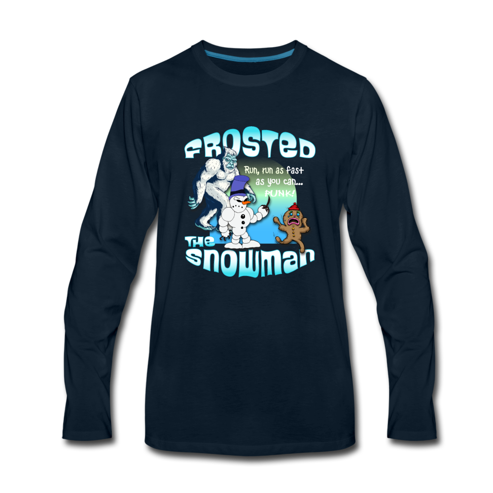 Frosted the Snowman Punk Long Sleeve T-Shirt - deep navy