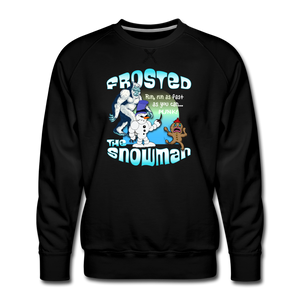 Frosted the Snowman Punk Sweatshirt - black