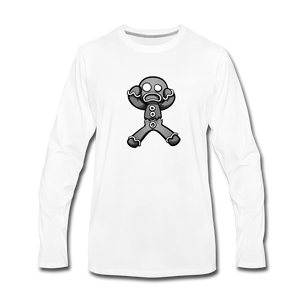 Gingerbread Nightmare Long Sleeve T-Shirt - white