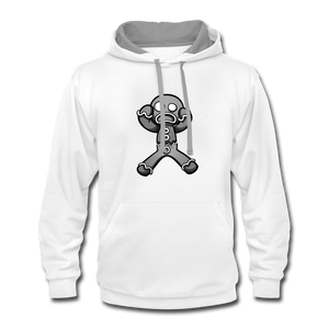 Gingerbread Nightmare Contrast Hoodie - white/gray