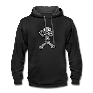 Gingerbread Nightmare Contrast Hoodie - black/asphalt