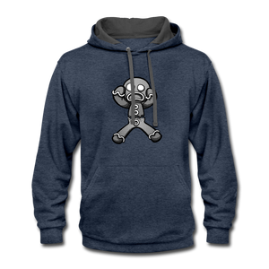 Gingerbread Nightmare Contrast Hoodie - indigo heather/asphalt