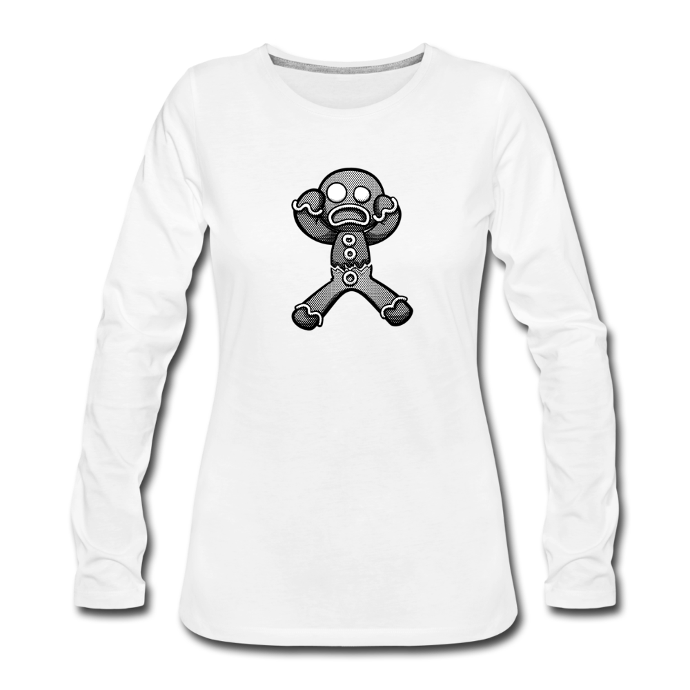Gingerbread Nightmare Women's Premium Long Sleeve T-Shirt - white